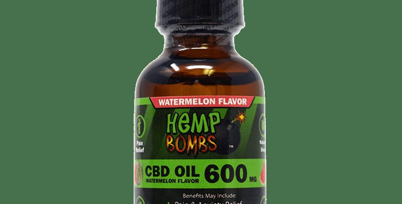 (Case of 6) 600mg CBD OIL-Watermelon Flavor