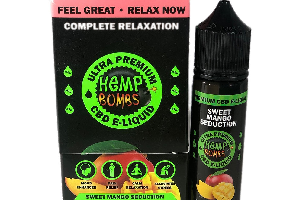 (Case of 6) CBD-300mg E-Liquid-Sweet Mango 60ml