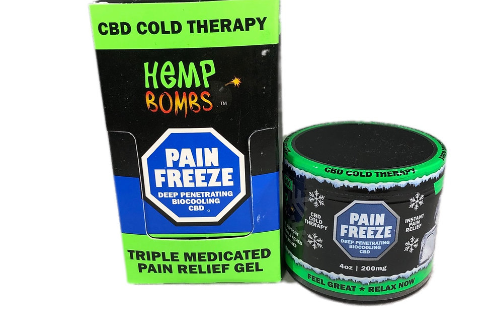 (Case of 6) CBD Pain Freeze 4oz 200mg
