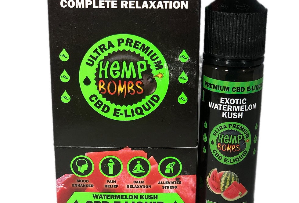 (Case of 6) CBD-300mg E-Liquid-Watermelon 60ml