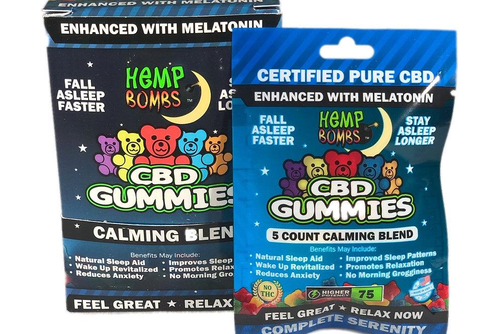 (Case of 12) CBD Sleep Gummies 5-count Melatonin (75 MG)