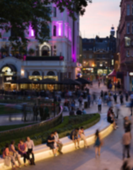 Leicester Square under bench LED lighting LEDLUX Linear LH insta UK | E4P insta lighting