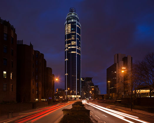St George's Tower Custom Facade LED lighting insta UK | E4P insta lighting