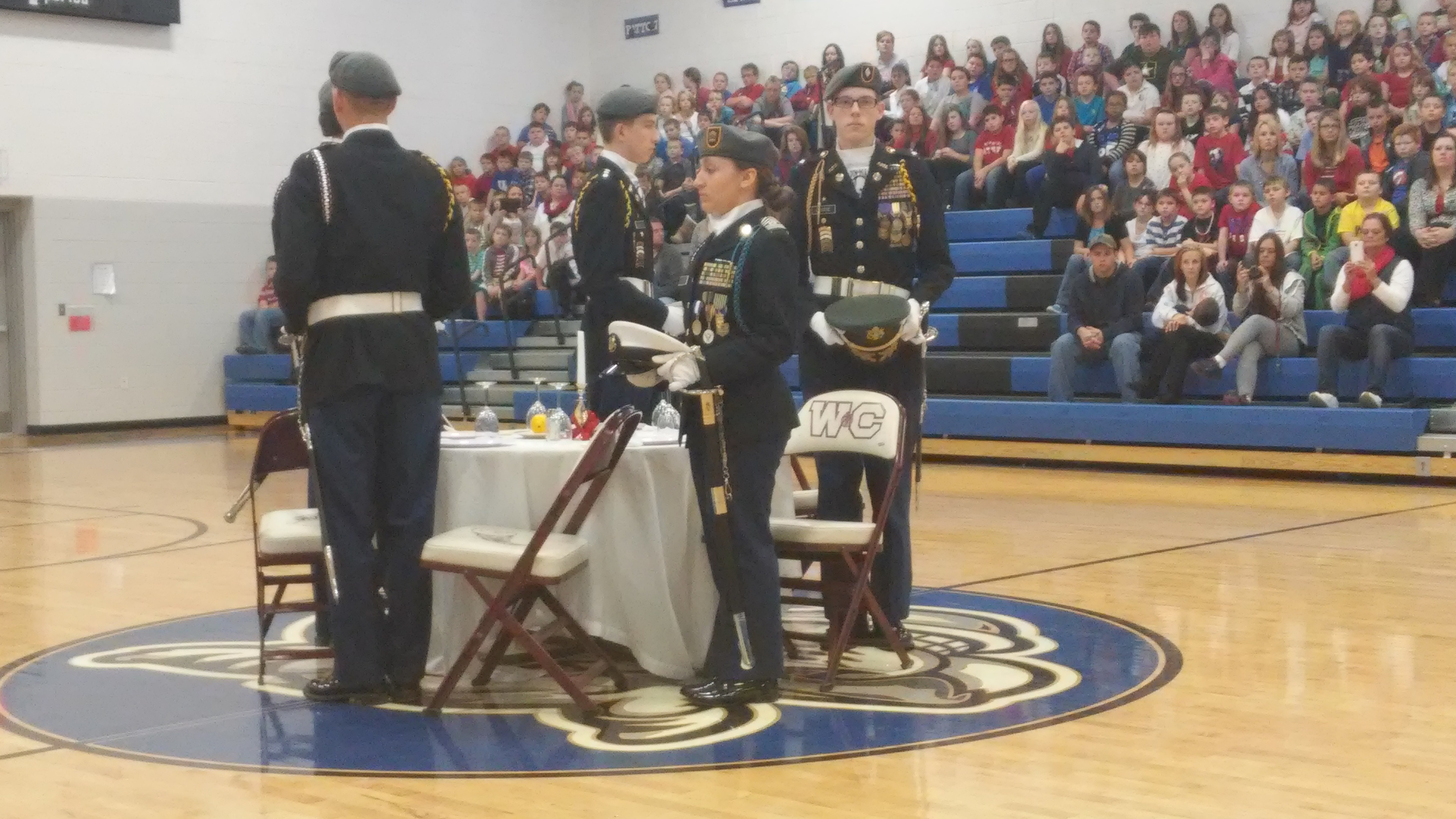 WCHS ROTC Vets Day
