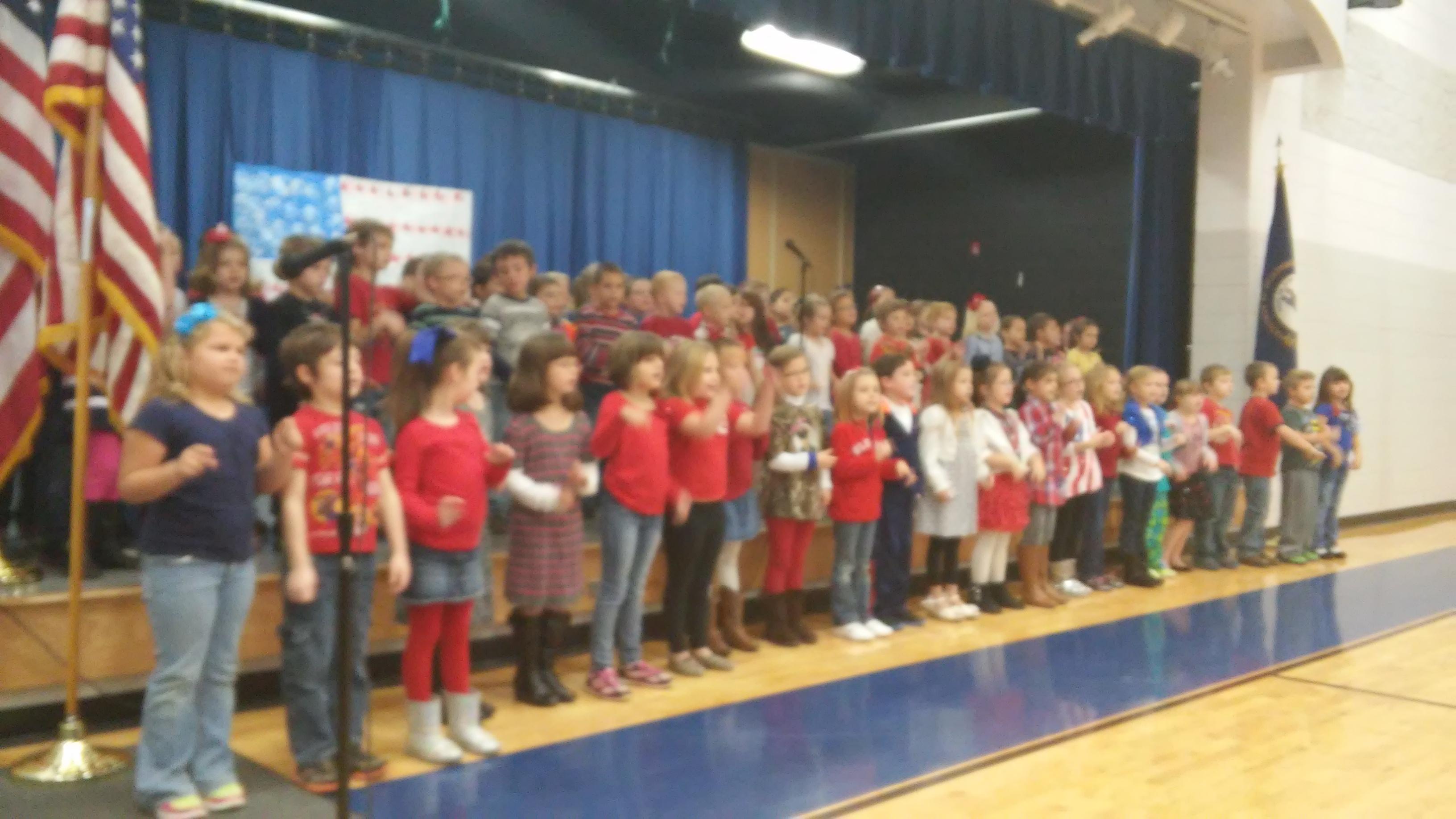 Kindergarten Honoring Our Vets