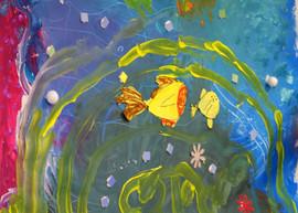 """Atelier Fresque """"Dans l'eau"""" (2013)"""