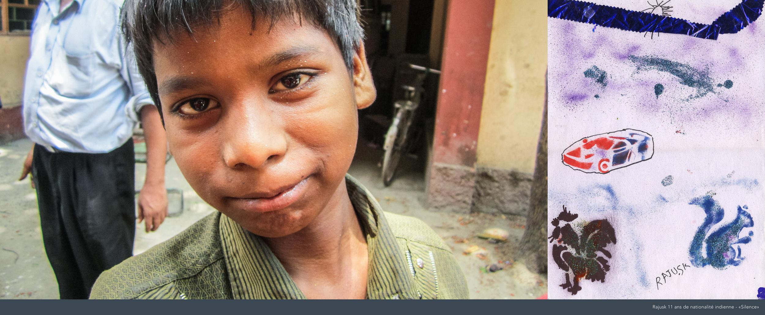 Rajusk, 11 ans, Inde.