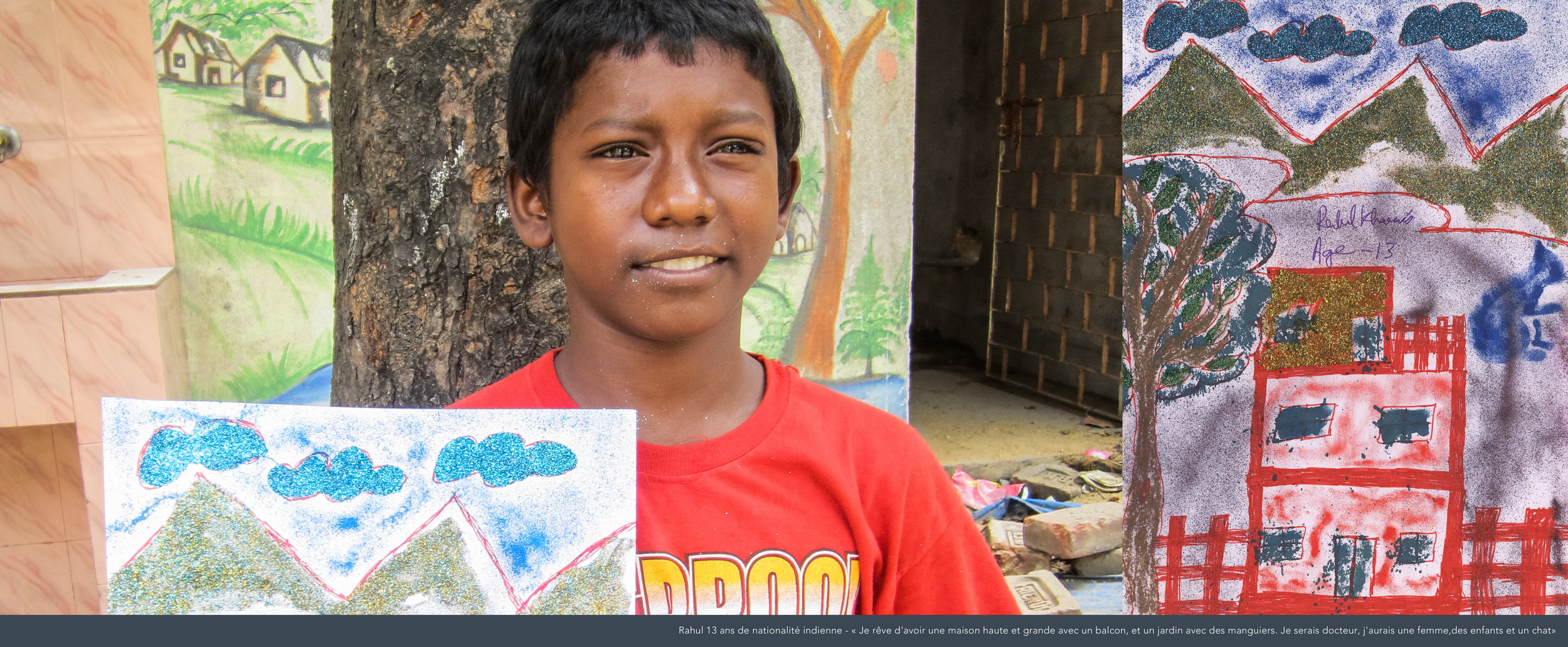 Rahul, 13 ans, Inde.