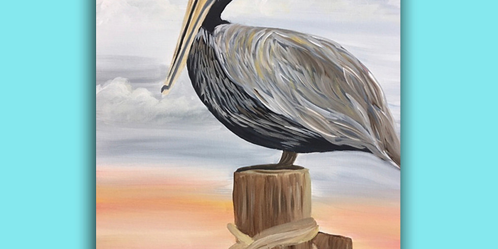 Pelican At The Beach (1)