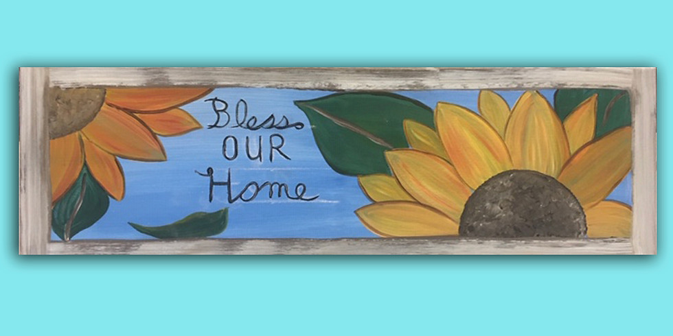 Bless Our Home 10x30 canvas