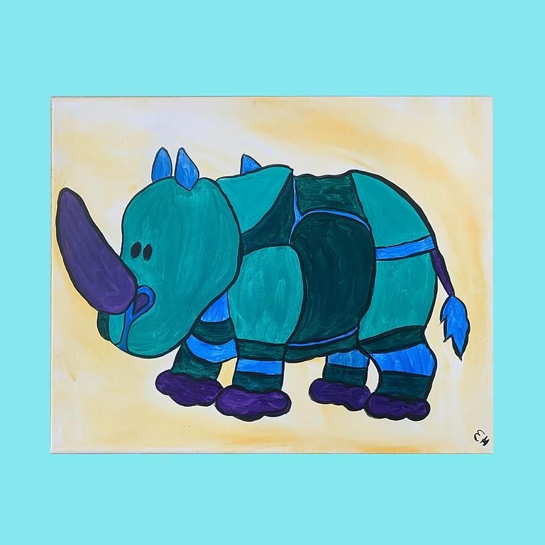 Colorful Hippo