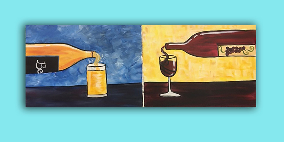 Couples Night or paint (1) canvas