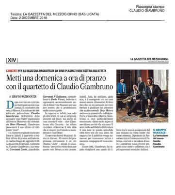 20181202_La Gazzetta Del Mezzogiorno (Ba