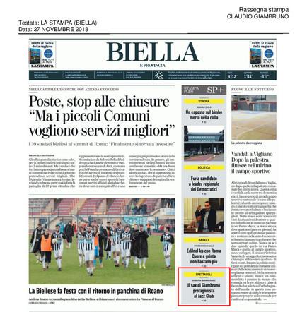 20181127_La Stampa (Biella)_Claudio Giam