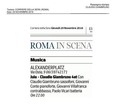 20181129_Corriere Della Sera (Roma)_Clau