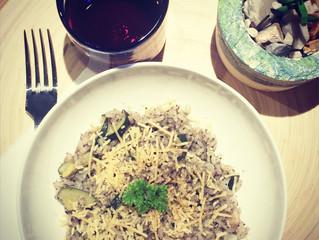 Mushroom and Zucchini Risotto