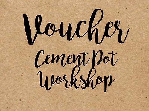 Love Grows Concrete Pot Workshop Voucher