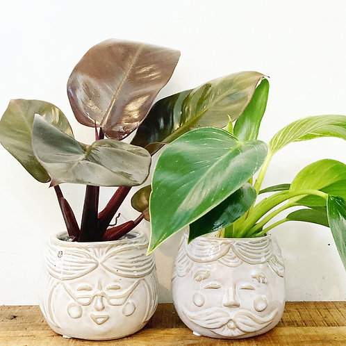 Nan and Pop Ceramic Planters
