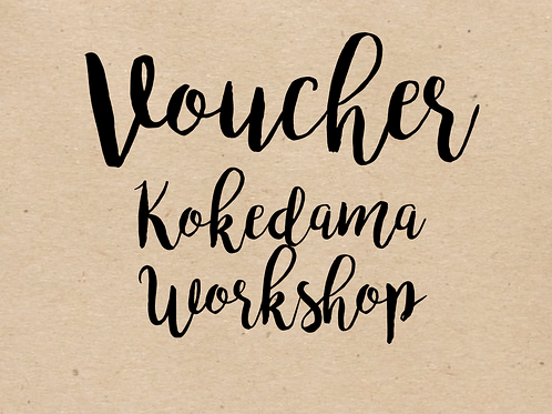 Love Grows Kokedama Workshop Voucher