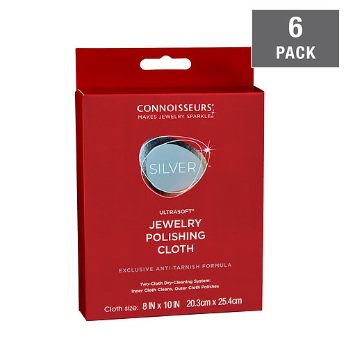 Silver Jewelry Polishing Cloth-6 Pack
