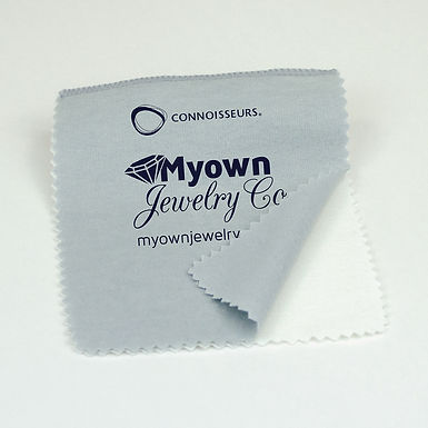 #244 Gray/White Jewelry Polishing Cloth 5x6