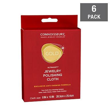 Gold Jewelry Polishing Cloth 8x10 - 6 Pack