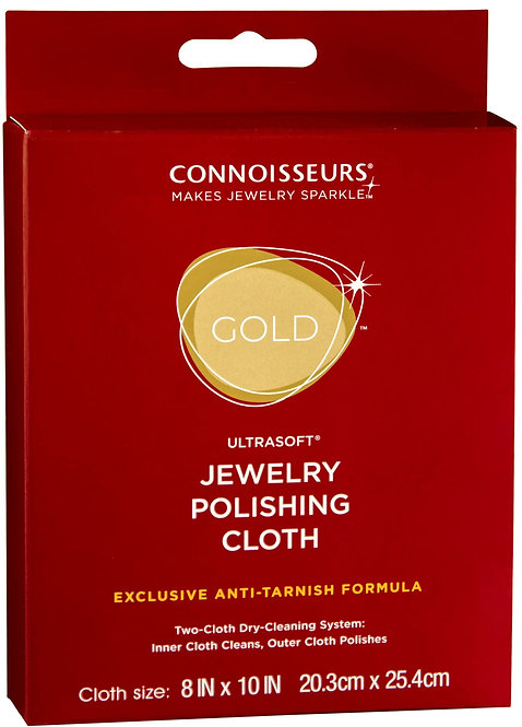 "#1028 Gold Jewelry Polishing Cloth 8""x10"" - 6 pack"