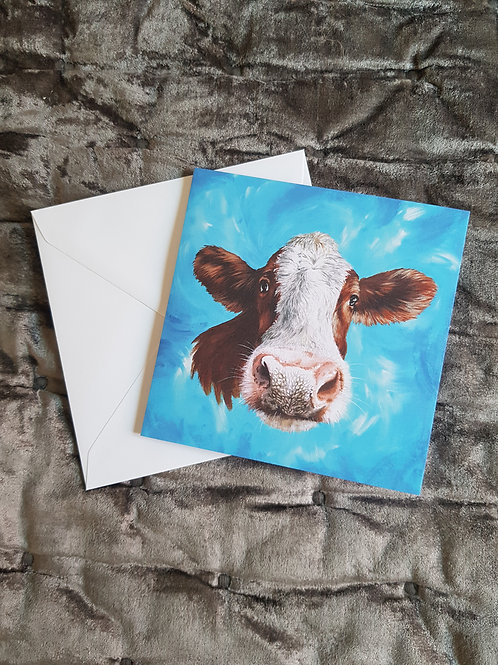 Nosey Cow card