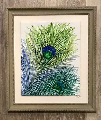 Alcohol Ink: Plumage