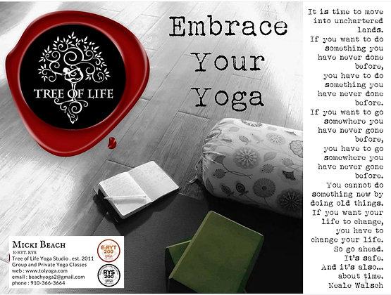 Embrace Your Yoga Workbook