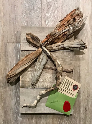 Driftwood Art: Endure Dragonfly