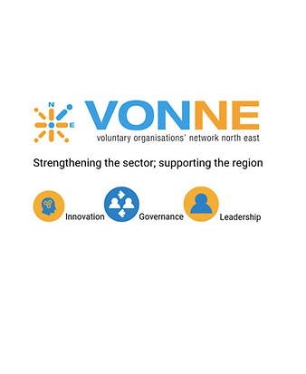 VONNE logo - a compass highlights NE accompanied by the words Strengthening the sector; supporting the region