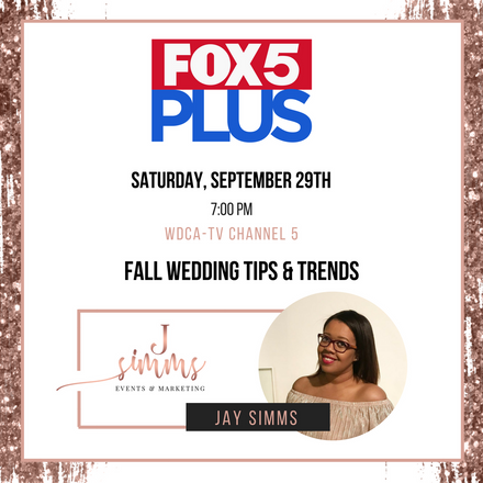 {News Segment} Jay Simms Joins Fox 5 DC to Talk Fall 2018 Wedding Trends