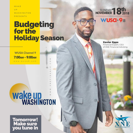 {Client News} Xavier Epps Shared Tips for Budgeting for the Holiday Season with WUSA9