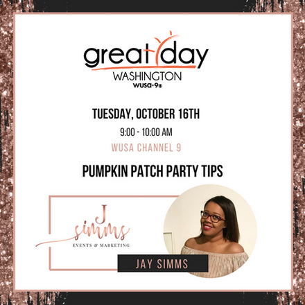 Jay Simms to Share Pumpkin Patch Party Tips with Great Day Washington!