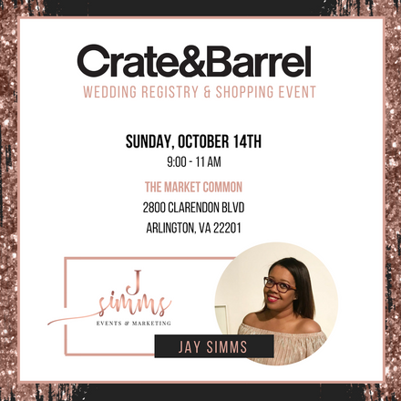 Featured Vendor: J. Simms Events Joins Crate & Barrel's Wedding Registry Event