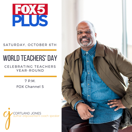 {Client News} Cortland Jones Appeared on Fox 5 DC to Discuss World Teachers' Day