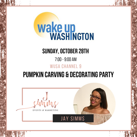 Jay Simms to Share Tips for Hosting a Pumpkin Decorating and Carving Party on Wake Up Washington!