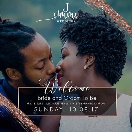 Welcome J. Simms Weddings Couple!