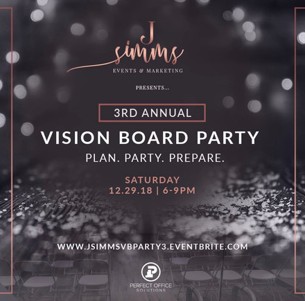 J. Simms Events 3rd Annual Vision Board Party!