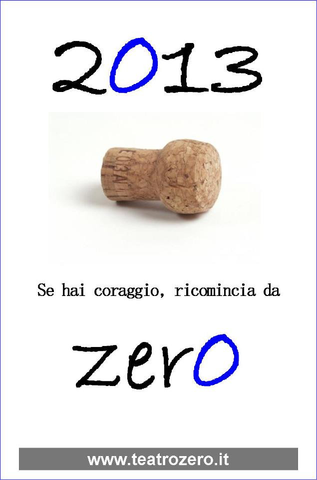 2012, Teatrozero - Il primo post su Facebook