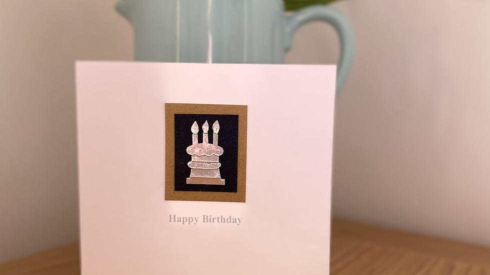 Birthday Cake - Navy and Brown