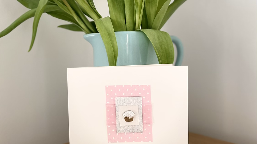 Birthday card- Pink Cupcake
