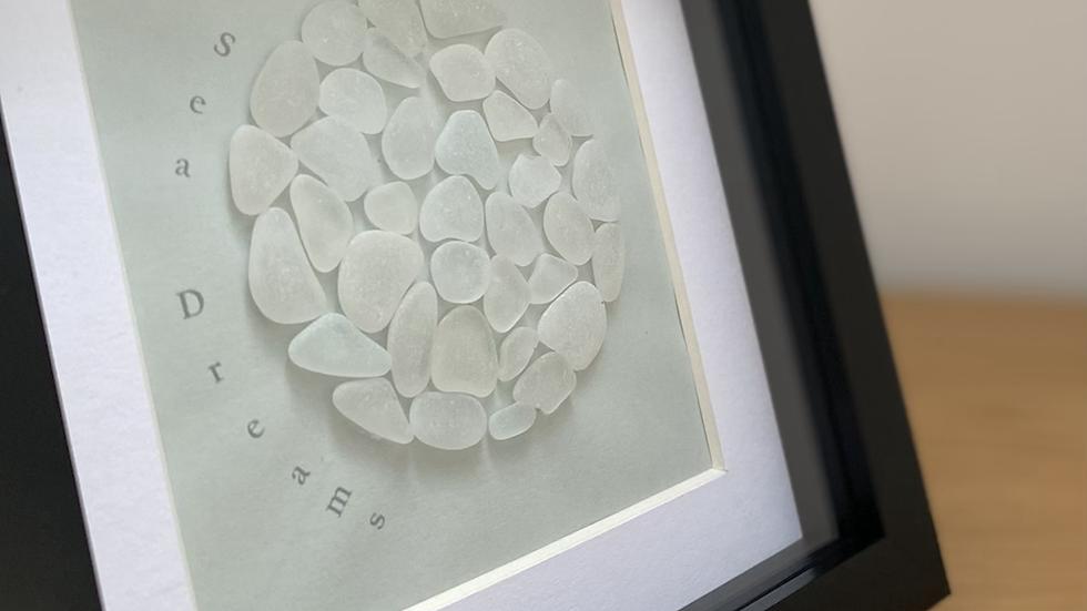 Sea Dreams- clear/ white glass