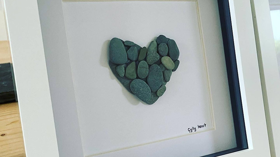 Gylly Layered Heart -Slate