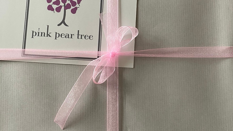 Gift wrapping with message.