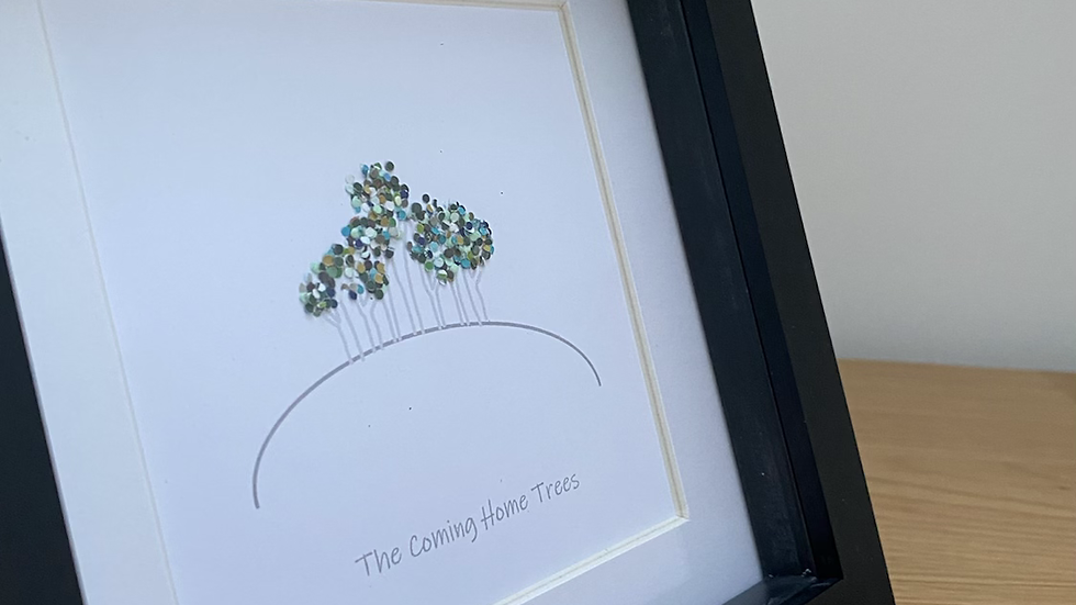 The Coming Home / Nearly There Trees black frame