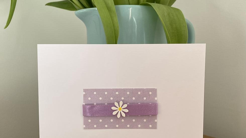 Birthday card- Lilac Daisy