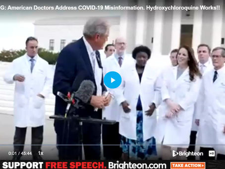 American Doctors Address Covid-19 Covid-19 Works!! Part 1 of 3.