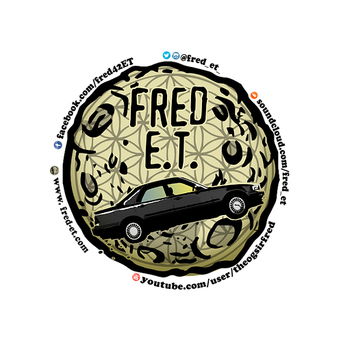 Fred E.T. logo Sticker